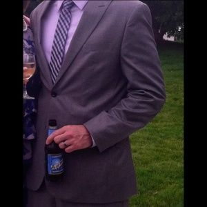 Modern fit Gray suit jacket and pants